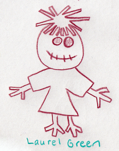 a drawing of a scarecrow