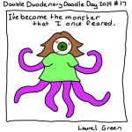 a drawing of laurel as a tentacled monster