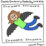 a drawing of laurel as a vampire