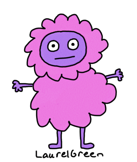 a drawing of a fluffy thing