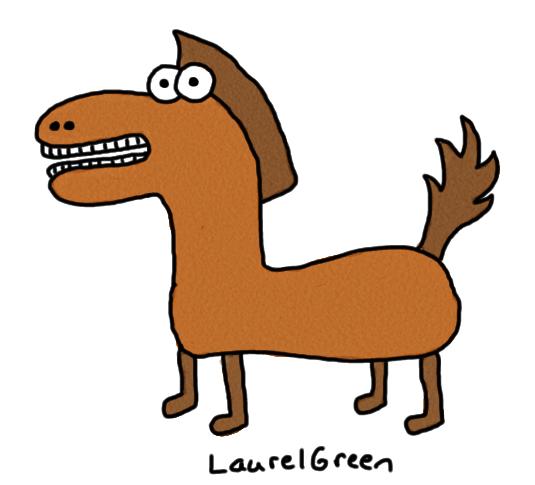 a badly-drawn horse