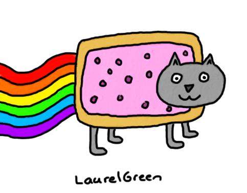 a drawing of nyan cat