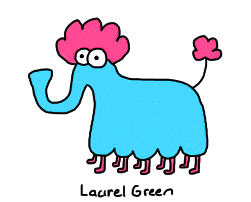 a drawing of a weird elephant thing