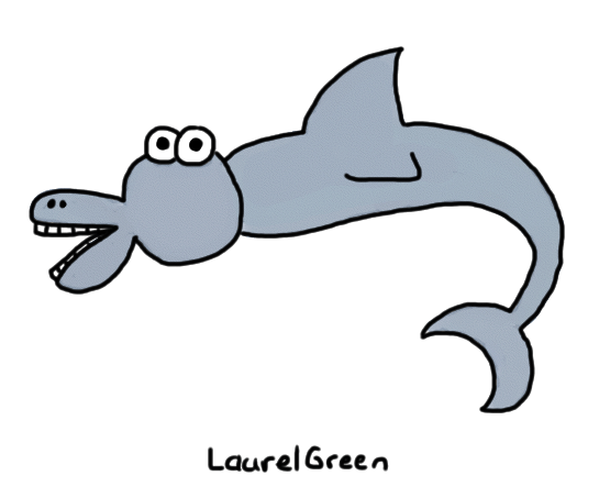 a drawing of the worst dolphin