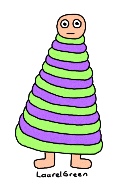 a drawing of a striped creature