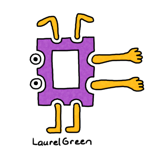 a person drawn in the style of modern art