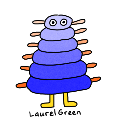a drawing of a blue layered thing