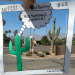 a comic mixed with real life about a mean cactus