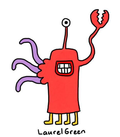 a drawing of a mutant crab thing