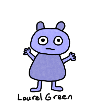 a drawing of a blue bear