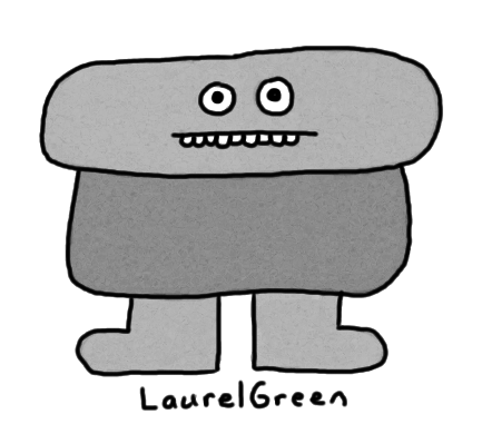 a drawing of a rock guy