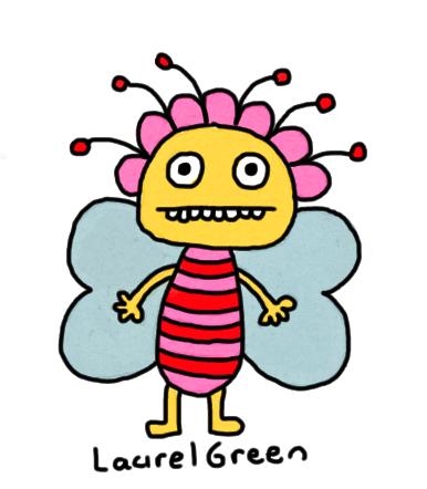 a drawing of a weird fairy