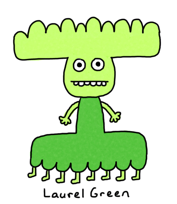 a drawing of a green thing with many legs