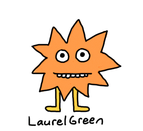 a drawing of a spiky critter