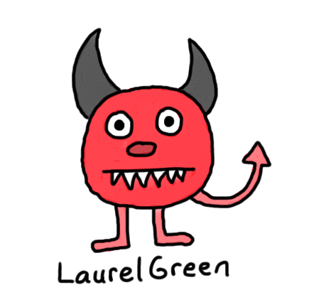 a drawing of a little devil creature