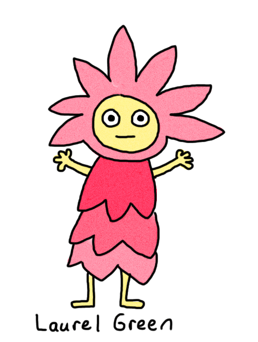 a drawing of a happy flower person