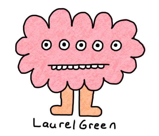 a drawing of a bubblegum creature