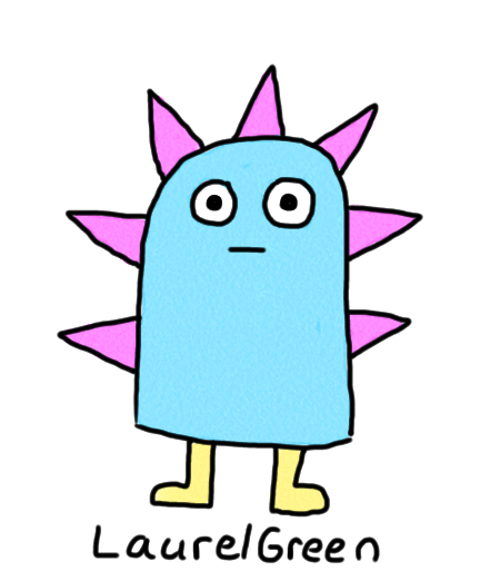 a drawing of a little, spiky critter