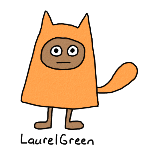 a drawing of a guy wearing a cat costume