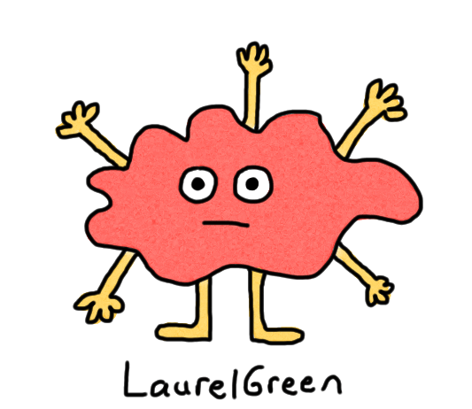 a drawing of a gooey creature with five arms