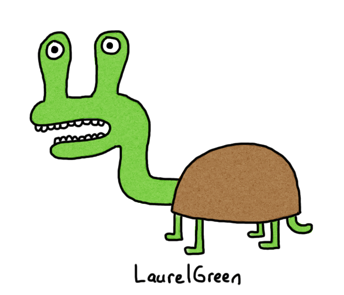 a drawing of a turtle