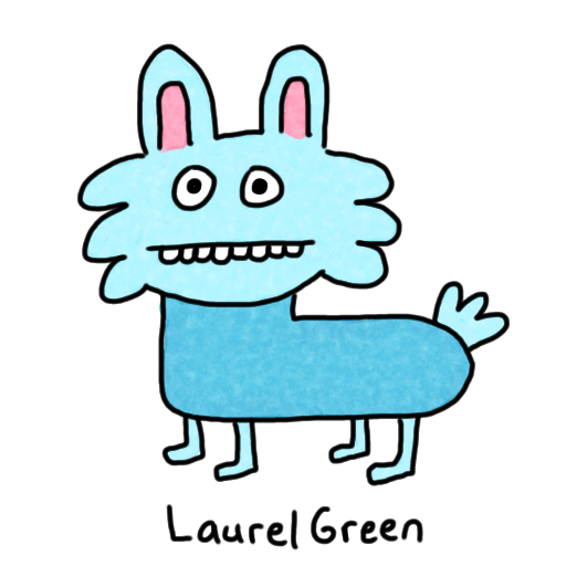 a drawing of a cute blue animal