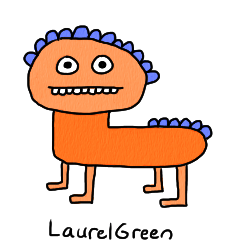 a drawing of a quadrupedal creature