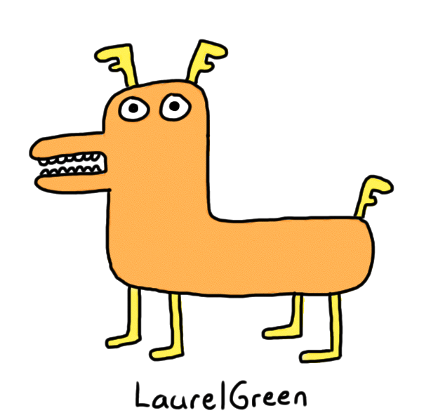 a drawing of a weird dog
