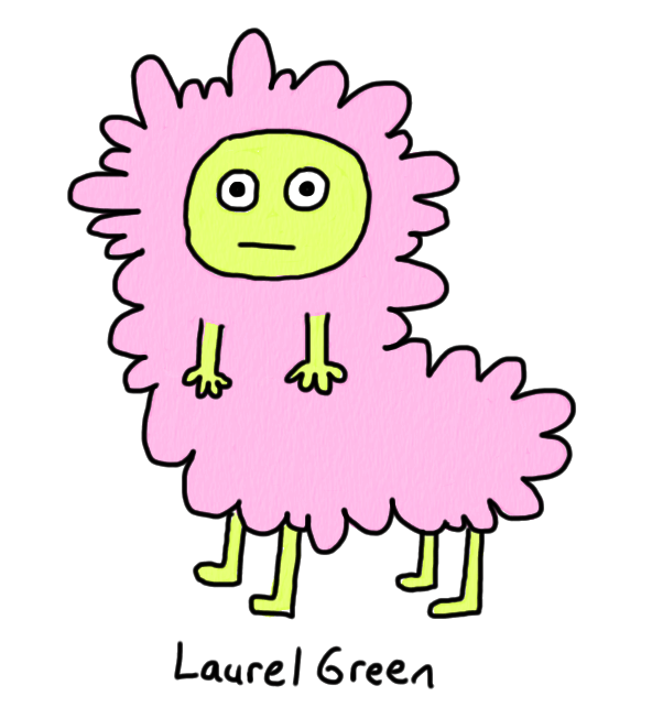 a drawing of an animal that is part boy and part sheep