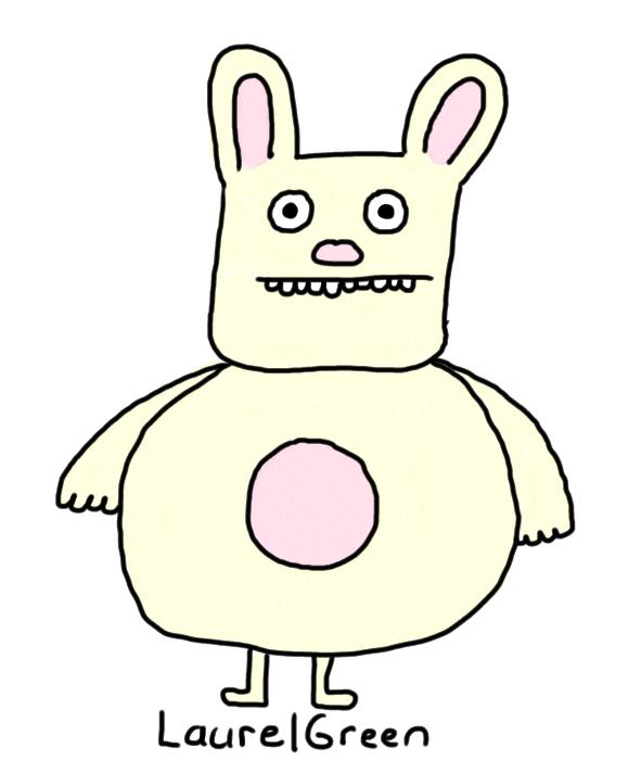 a drawing of a big rabbit