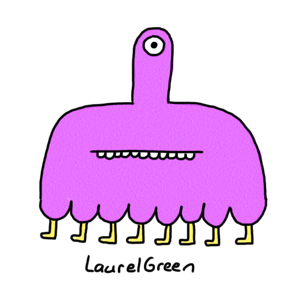 a drawing of a creature with one eyestalk and eight legs