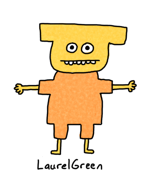a drawing of a boring person