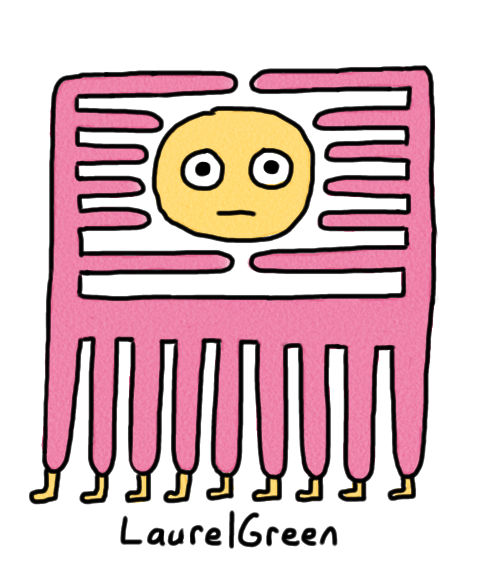 a drawing of a strange creature with spikes encaging its own head and nine legs