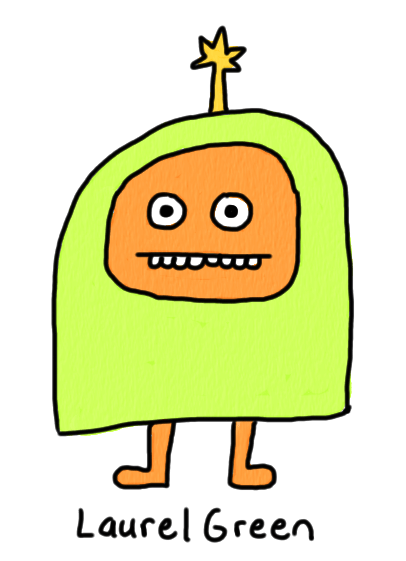 a drawing of a little dink creature