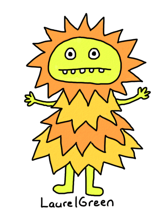 a drawing of a person who looks like a sun