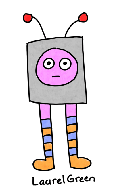 a drawing of a television with legs