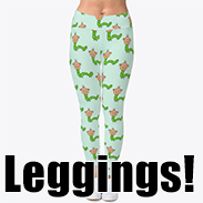 a photo of some leggings with a pattern made of green caterpillar people