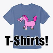 a photo of a t-shirt with an image of a derpy pony on it