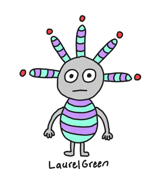 a drawing of a boring stripey creature with spikes coming out of its head
