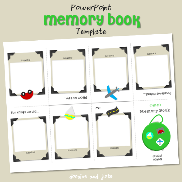 It is an image of Memory Book Printable in student