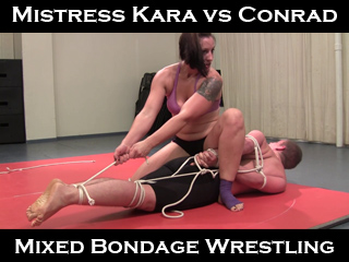 female vs male mixed wrestling