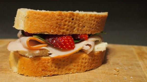 Turkey Strawberry Brie Sandwich   doomthings
