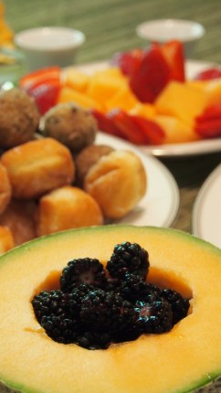 Cantaloupe and blackberries!