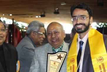 डाॅ. गौरव संजय 'अग्ररत्न' सम्मान से सम्मानित