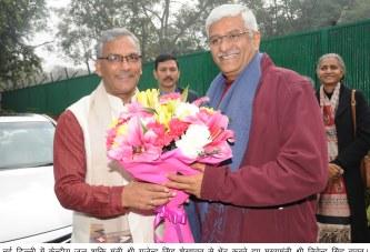 मुख्यमंत्री ने केन्द्रीय जल शक्ति मंत्री गजेन्द्र सिंह शेखावत से भेंट की
