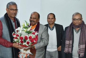 मुख्यमंत्री से राष्ट्रीय सफाई कर्मचारी आयोग के अध्यक्ष ने भेंट की