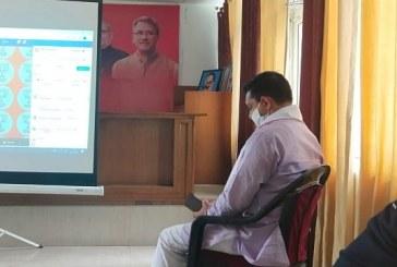 भाजपा नेताओं ने सुना राष्ट्रीय अध्यक्ष जेपी नड्डा का सोसल मीडिया लाइव संबोधन
