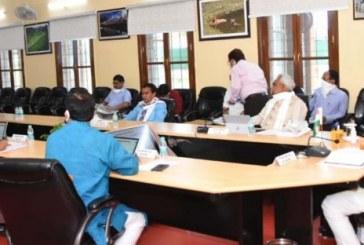 राज्य में कोविड-19 के दृष्टिगत मंत्रिमंडल की बैठक