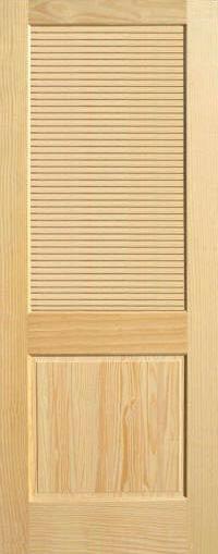 Pine Half Louvered Wood Interior Doors Homestead Doors