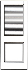 732 Louvered interior door